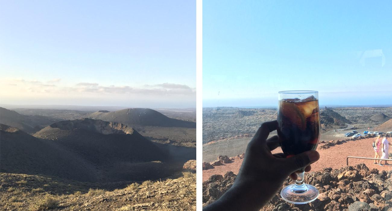 Volcan. Lanzarote. Coca Zero