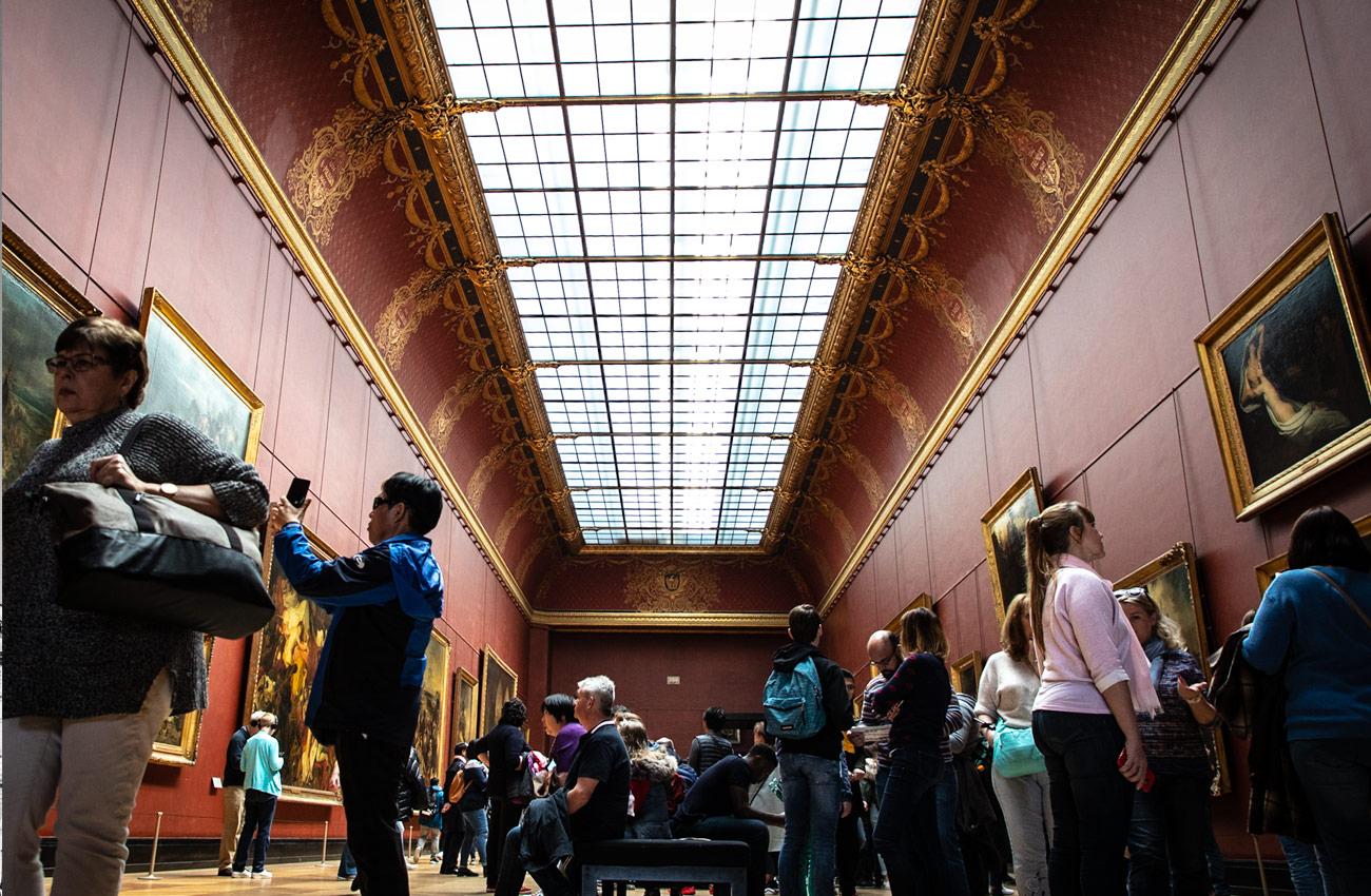 Allée Louvre, symetrie