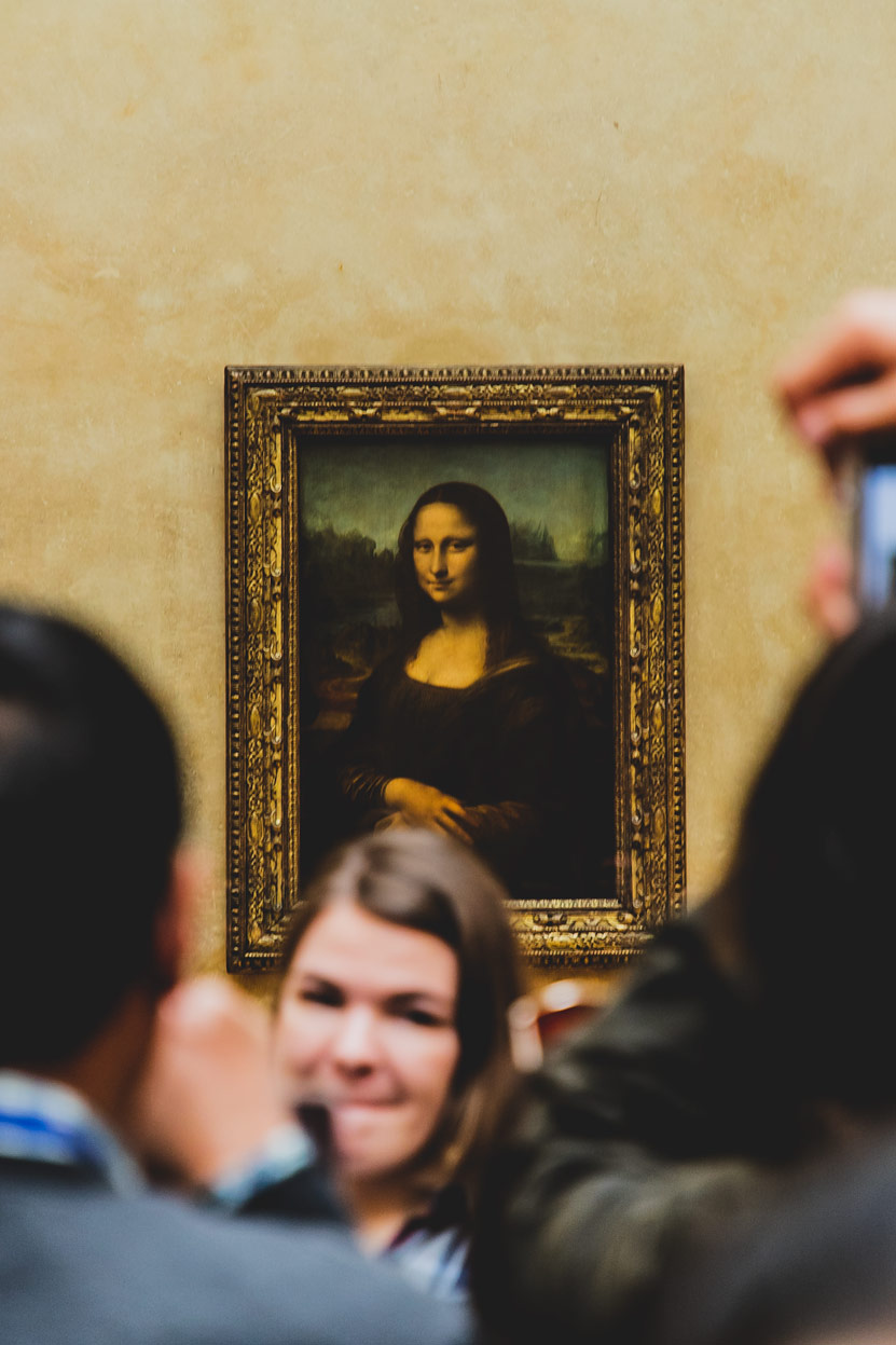 Mona lisa, la joconde, photographie